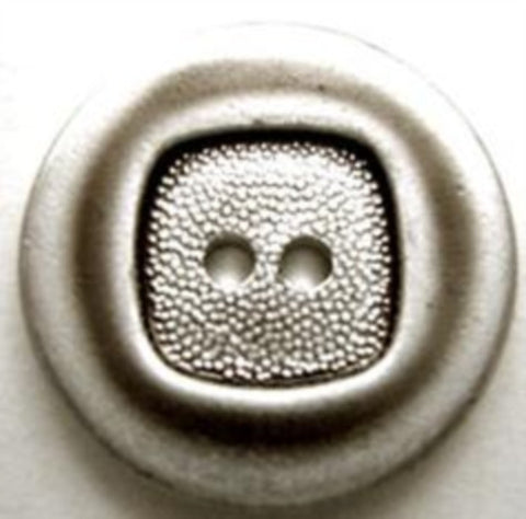 B10563 23mm Dull Silver Metal Alloy 2 Hole Button - Ribbonmoon