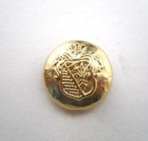 B14496 15mm Heavy Metal Gold Alloy Shank Button, Coat of Arms Design - Ribbonmoon