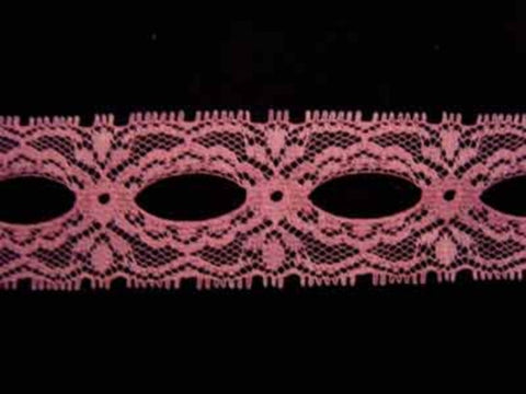 L258 35mm Rose Pink Eyelet or Knitting In Lace - Ribbonmoon