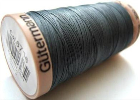 GQT 6716 Gutermann 200 metre spool of Cotton Quilting Thread,Grey Smoked