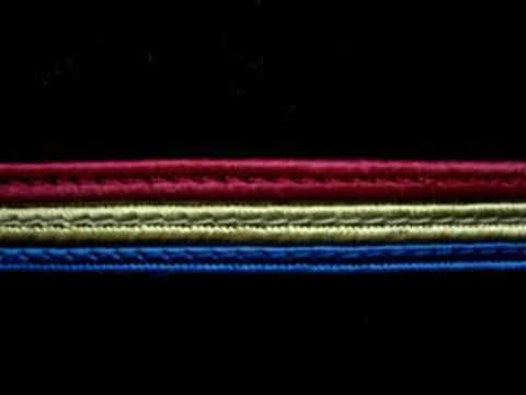 FT1581 11mm Dark Royal Blue, Burgundy and Green Corded Braid - Ribbonmoon