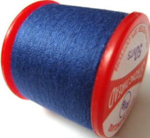 Strong Sewing Thread Royal Blue 8 Multi Purpose,70% polyester, 30% cotton