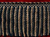 FT1213 185mm Navy and Cream Bullion Fringe - Ribbonmoon