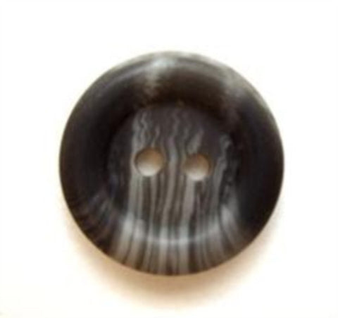 B5068 16mm Dark and Mid Grey Soft Sheen 2 Hole Button - Ribbonmoon