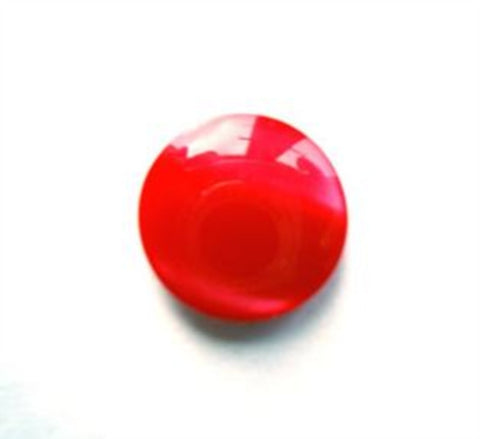 B4855 13mm Tonal Poppy Red Pearlised Polyester Shank Button - Ribbonmoon