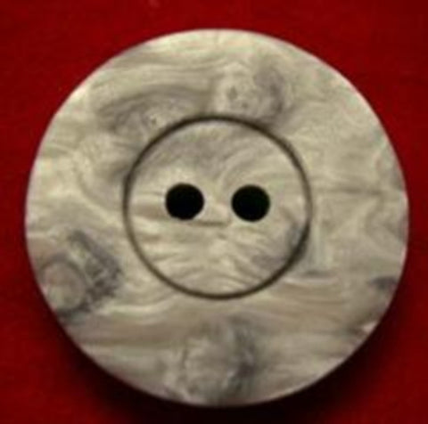 B17996 22mm Tonal Greys Shimery 2 Hole Button - Ribbonmoon