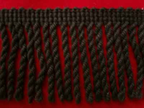 FT859 53mm Charcoal Black Bullion Fringe - Ribbonmoon