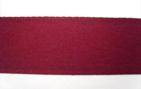 R1916 26mm Burgundy Berisfords Polyester Rustic Taffeta Seam Binding. - Ribbonmoon