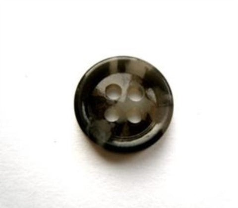 B17516 14mm Black and Grey 4 Hole Button - Ribbonmoon