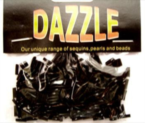 BEAD24 6mm Black Twist Bugle Beads Size 3 - Ribbonmoon