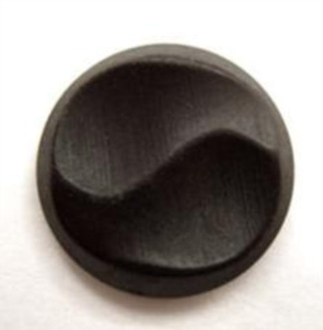 B14466 20mm Black Wood Effect Finish Shank Button - Ribbonmoon