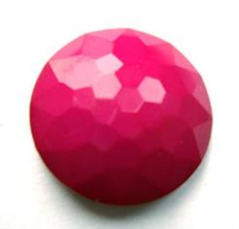 B4248 20mm Deep Fuchsia Pink Domed Honeycomb Shank Button - Ribbonmoon