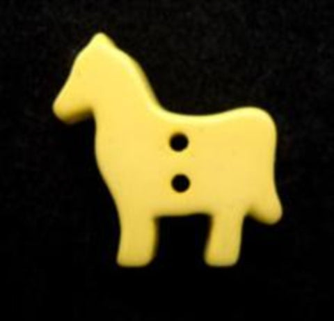 B8522 17mm Primrose Horse Shape Gloss Novelty 2 Hole Button - Ribbonmoon