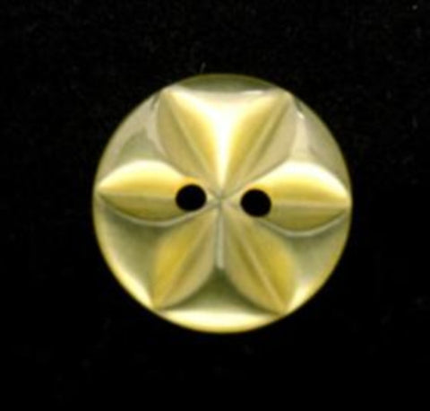 B12009 14mm Yellow Tint 2 Hole Polyester Star Button - Ribbonmoon