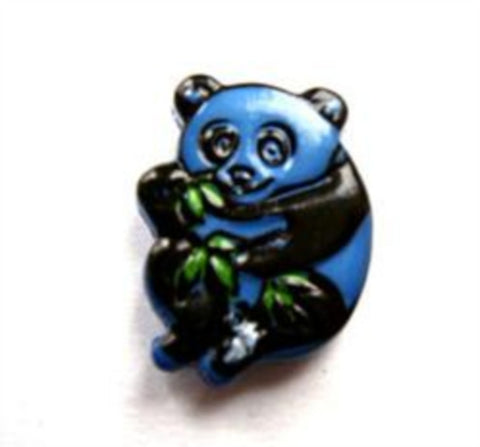B13833 17mm Blue Panda Shaped Novelty Shank Button - Ribbonmoon