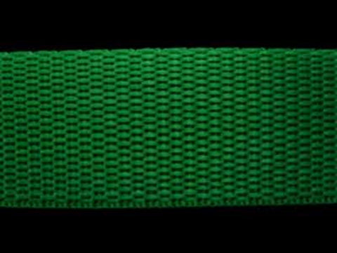 WEB17 25mm Deep Emerald Green Polypropylene Webbing - Ribbonmoon