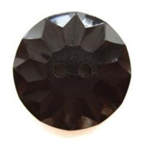 B5141 23mm Black Gloss Textured 2 Hole Button - Ribbonmoon