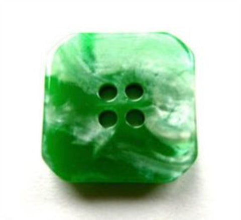 B17810 23mm Tonal Green 4 Hole Button with a Pearlised Iridescence