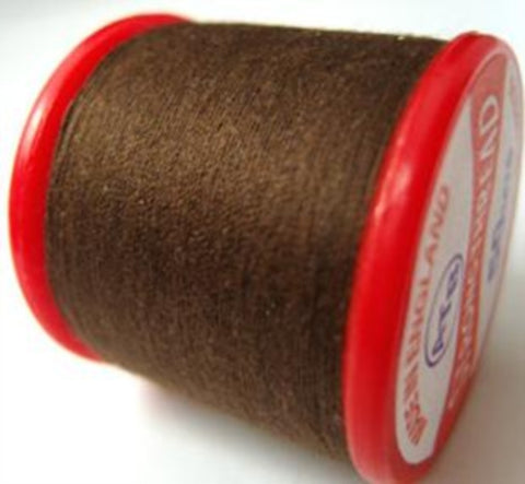 Strong Sewing Thread Dark Brown 161 Multi Purpose,70% polyester, 30% cotton - Ribbonmoon