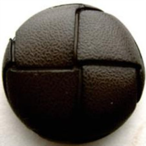 "B8477 25mm Dark Sage Green Leather Effect ""Football"" Shank Button - Ribbonmoon"