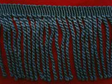 FT497 65mm Deep Dusky Blue Bullion Fringe - Ribbonmoon