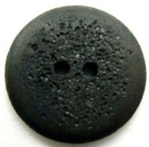 B12813 23mm Charcoal Grey Matt Pocked Stone Effect 2 Hole Button - Ribbonmoon