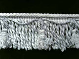 FT543 11cm Ice Blue Grey Bullion Fringe with Tassels - Ribbonmoon