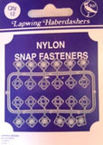 SF31 8mm Nylon Snap Fasteners. 12 per card