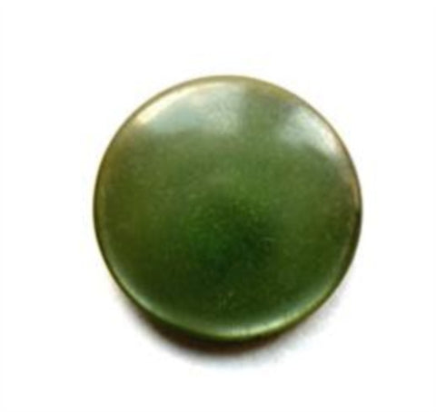 B12441 Pearlised Green Polyester Shank Button - Ribbonmoon