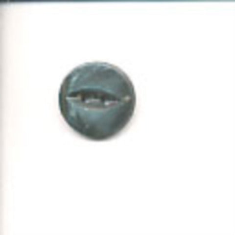 B10607 14mm Petrol and Grey 2 Hole Polyester Fish Eye Button - Ribbonmoon