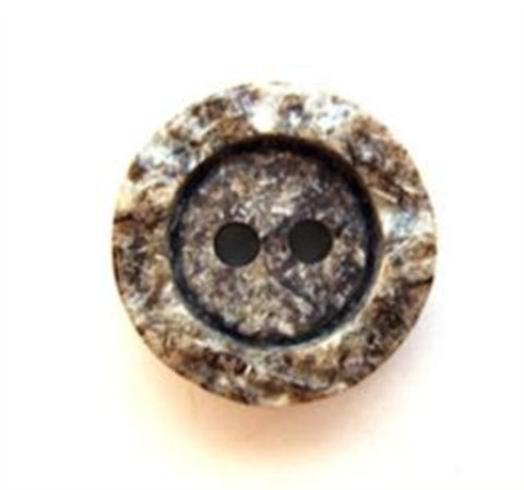 B6679 15mm Browns and Naturals Stone Effect Matt Centre 2 Hole Button - Ribbonmoon