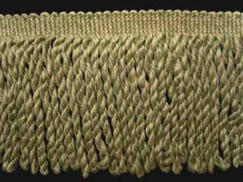 FT786 125mm Spring Green and Pale Ecru Bullion Fringe - Ribbonmoon