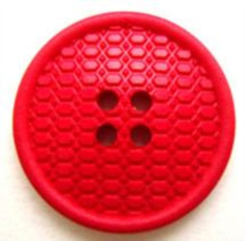 B8611 23mm Textured Pale Red 4 Hole Button