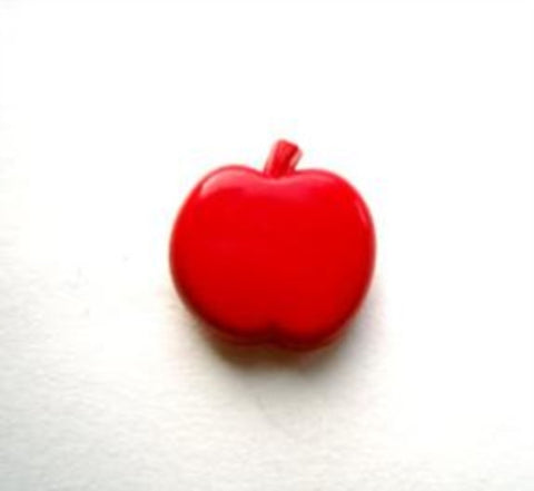 B11931 14mm Red Apple Shape Nylon Novelty Shank Button