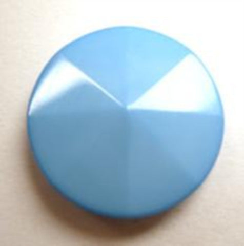 B13761 19mm Light Blue Shank Button Sections Rising to Centre Point - Ribbonmoon