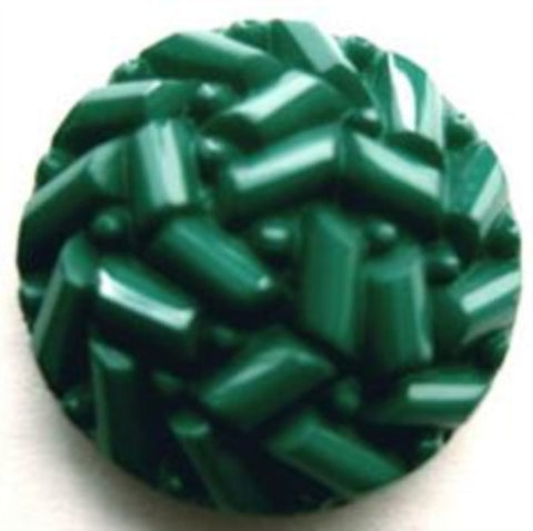 B14312 23mm Jade Green Textured Shank Button - Ribbonmoon