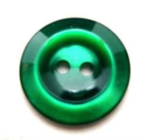 B10454 19mm Dark Bottle Green Polyester 2 Hole Button - Ribbonmoon