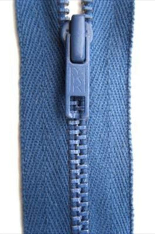 Z4915 YKK 30cm Bright Denim Blue Closed End Zip No.2 Metal Teeth - Ribbonmoon