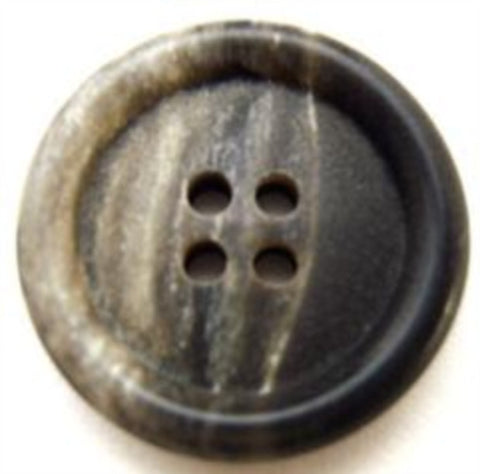B10852 22mm Greys and Charcoal Black 4 Hole Button - Ribbonmoon