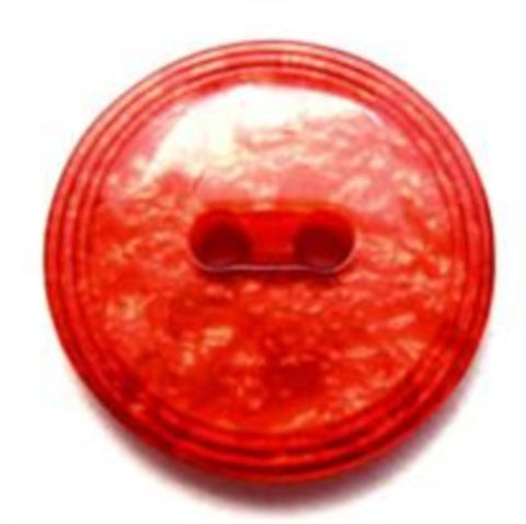 B7701 20mm Shimmery Pearlised Tonal Red and Orange 2 Hole Button - Ribbonmoon
