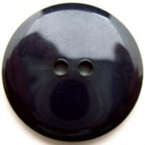 B12829 25mm Deep Navy High Gloss 2 Hole Button - Ribbonmoon