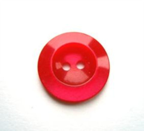 B17545 16mm Tonal Red and Fuchsia Pearlised Polyester 2 Hole Button - Ribbonmoon