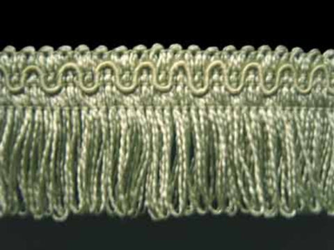 FT866 37mm Pale Khaki Looped Fringe on a Decorated Braid - Ribbonmoon