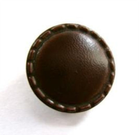 B12852 19mm Dark Brown Real Leather Shank Button - Ribbonmoon