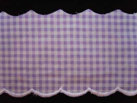 L334 82mm Lilac and White 100% Cotton Flat Anglaise Lace - Ribbonmoon