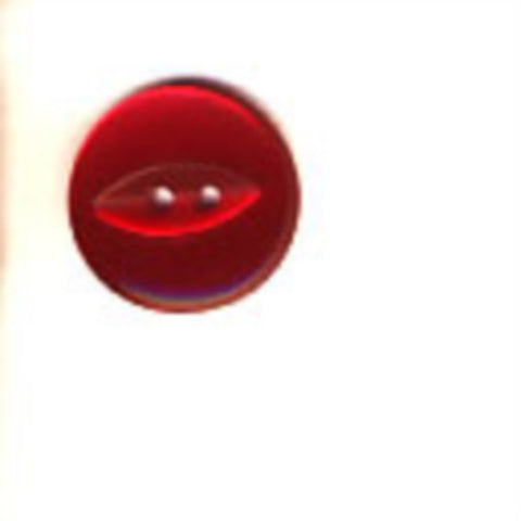 B16863 19mm Deep Red Polyester Fish Eye 2 Hole Button - Ribbonmoon