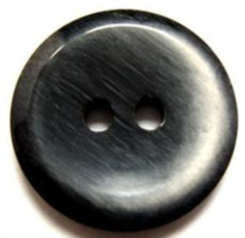 B10973 23mm Frosted Black High Gloss 2 Hole Button