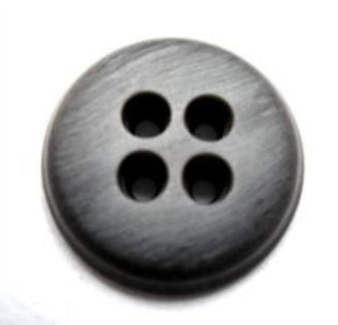 B16500 20mm Mid and Silver Grey Chunky Matt Shimmery 4 Hole Button - Ribbonmoon