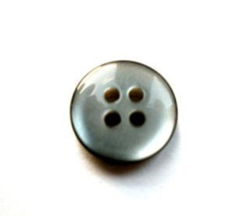 B17475 13mm Tonal Silver Grey Pearlised 4 Hole Button - Ribbonmoon