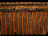 FT528 10cm Orange,Sage,Green and Black Bullion Fringe - Ribbonmoon